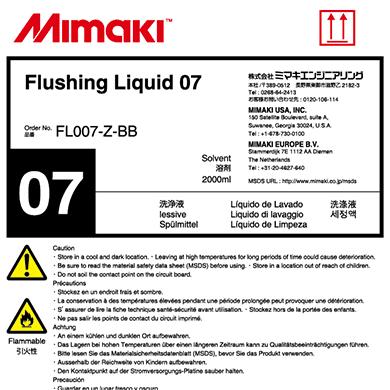 FL007-Z-BB 洗浄液07(2Lボトル)