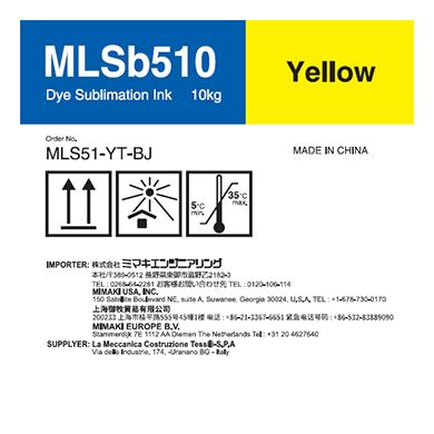 MLS51-YT-BJ MLSb510 昇華転写インクタンク イエローT
