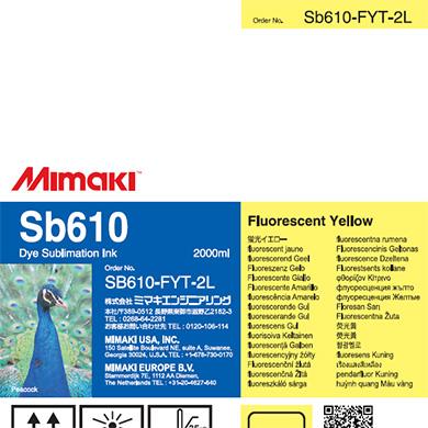 SB610-FYT-2L Sb610 蛍光イエローT