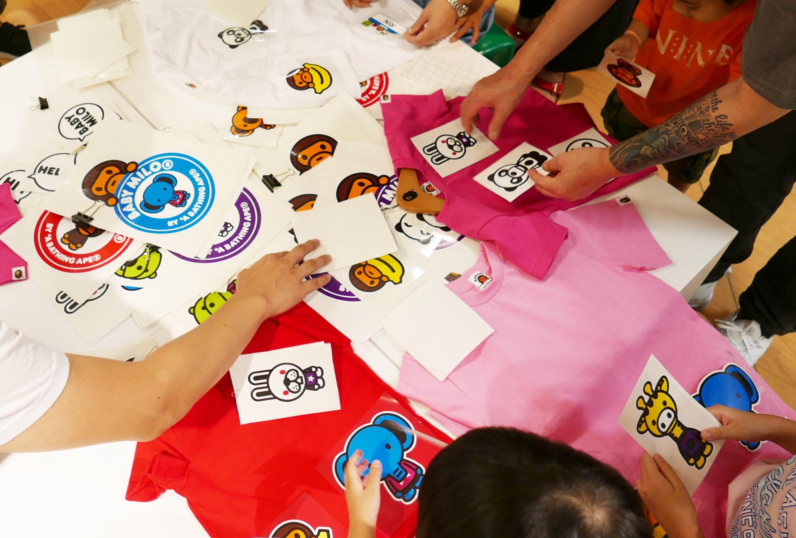 BAPE KIDS®カスタムTシャツワークショップに協賛 @西武池袋本店6階 子ども服フロア
